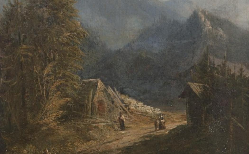Alfred Schouppé, Góra Giewont na wprost Zakopanego