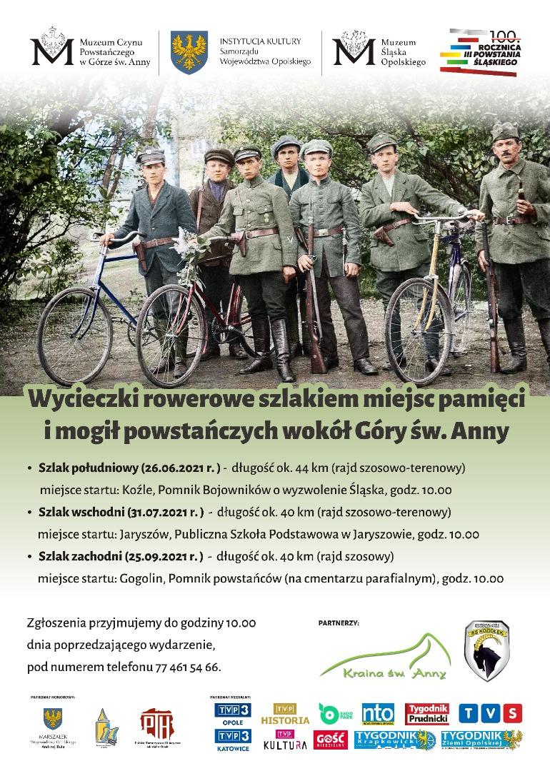 Plakat -rajdy rowerowe wokół Góry św. Anny