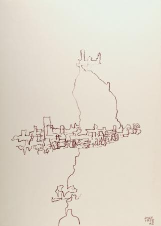 Kartki z podróży - Asyż, 1975, papier, tusz, flamaster, 70x50, MSO-S-2449-4