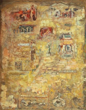 Kartki z podróży - Pompei Romana, 1975, papier, technika mieszana, 65x49,5, MSO-S-2449-7