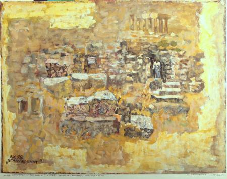 Kartki z podróży - Stary Korynt, 1978, papier, technika mieszana, 65x49,5, MSO-S-2449-14