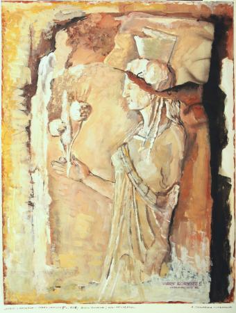 Kartki z podróży - Stary Korynt II, 1978, papier, technika mieszana, 65x49,5, MSO-S-2449-12