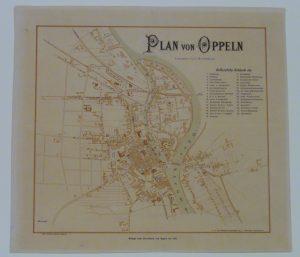 MŚO/H/4118, Plan Opola według stanu z 1810 r., odbitka graficzna, okres międzywojenny – po konserwacji