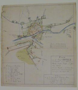 MŚO/H/4038, Plan Opola z 1810 r., rysunek odręczny kolorowany – po konserwacji