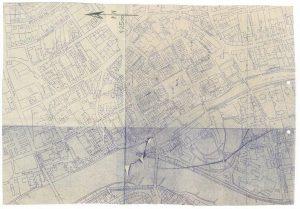 MŚO/H/4146, Plan Opola ? część starego miasta według stanu po 1945 r. odbitka graficzna – po konserwacji