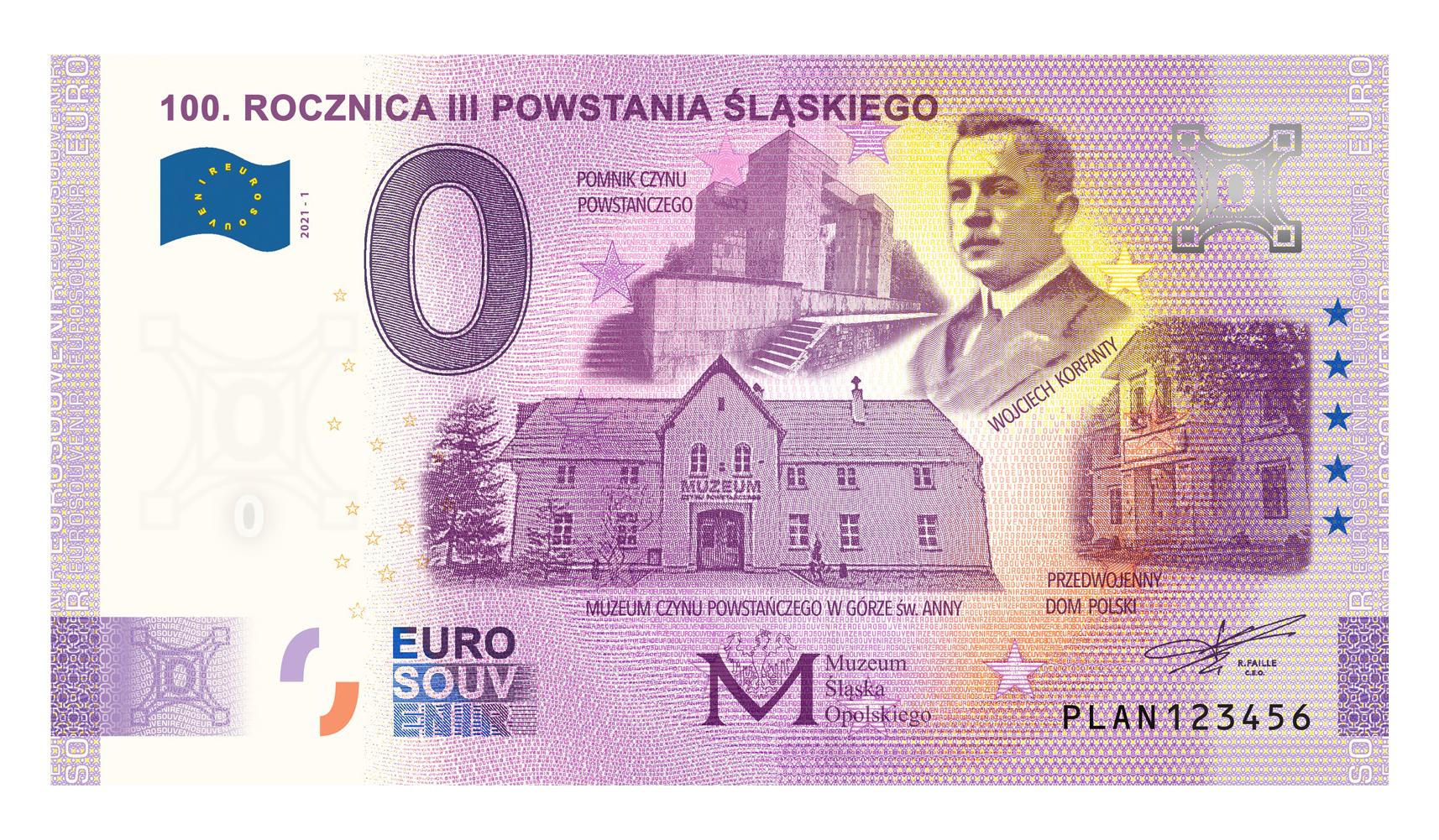Banknot okolicznościowy z okazji setnej rocznicy trzeciego powstania śląskiego